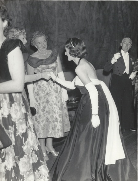 With Princess Alexandra 1957