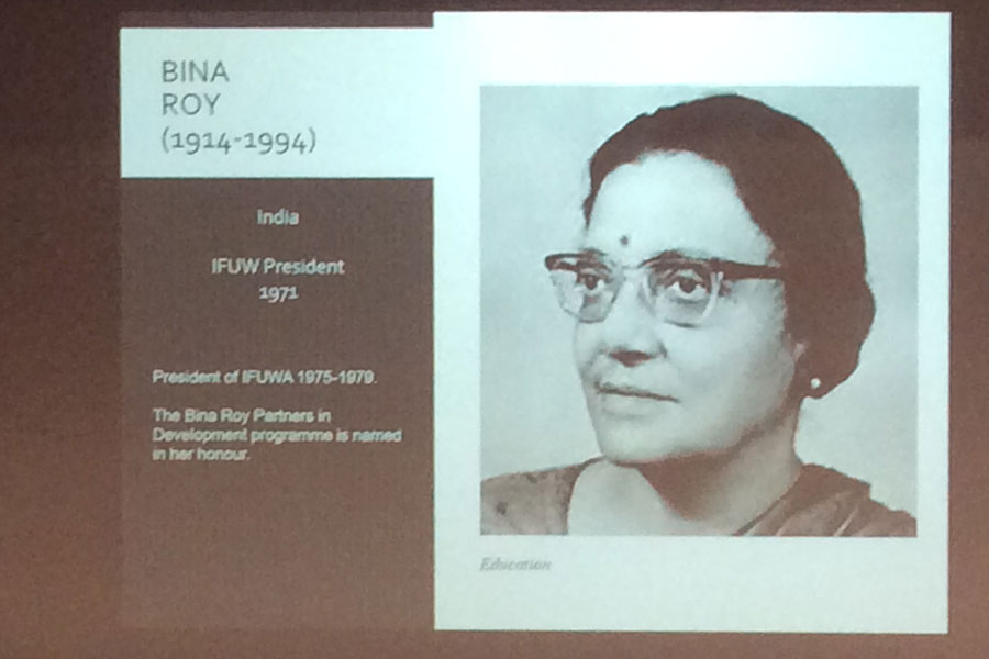 Bina Roy IFUW President 1971